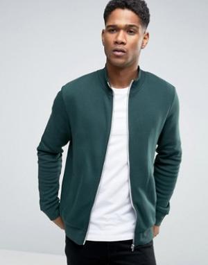 New Look Темно-зеленая спортивная куртка. Цвет: зеленый