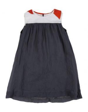 Платье MIMISOL. Цвет: стальной серый