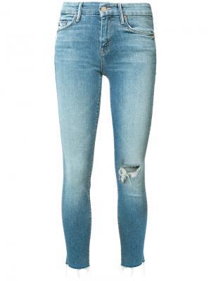 Укороченные джинсы Mother. Цвет: синий