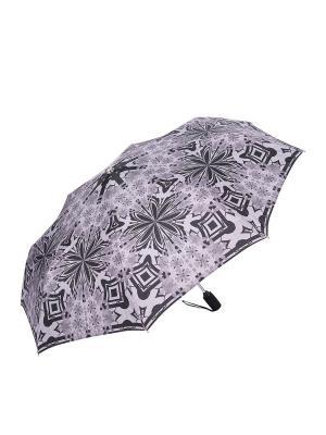 Зонт Slava Zaitsev. Цвет: серый, черный
