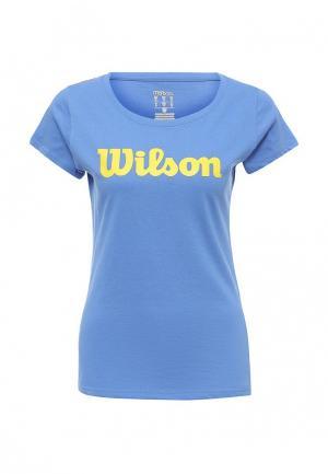 Футболка Wilson. Цвет: голубой