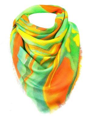 Платок Rob-art by Katya Rozhdestvenskaya. Цвет: зеленый, оранжевый, желтый