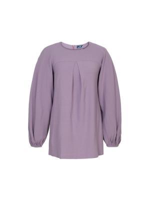 Блуза с пышными рукавами сиреневая Bella kareema. Цвет: сиреневый