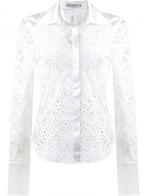 Lace patchwork shirt Martha Medeiros. Цвет: белый