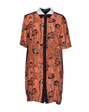 Короткое платье OSTWALD HELGASON. Цвет: ржаво-коричневый