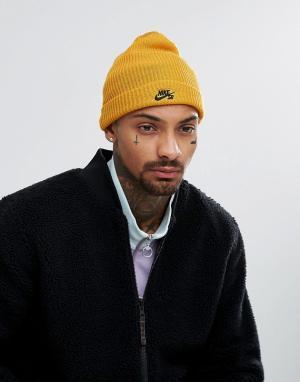 Nike SB Желтая шапка-бини 628684-716. Цвет: желтый