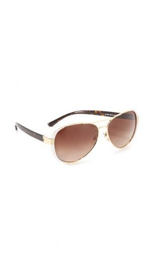 Солнцезащитные очки-авиаторы Tory Burch