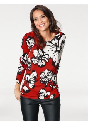 Пуловер ASHLEY BROOKE by Heine. Цвет: коралловый/молочно-белый