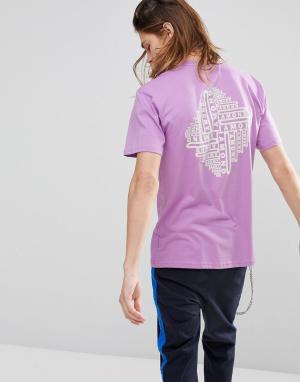 Diamond Supply Сиреневая футболка с принтом на спине Formula. Цвет: фиолетовый