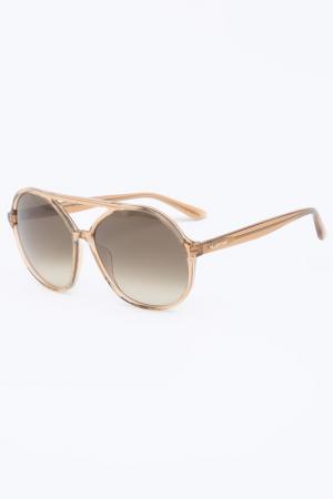 Очки солнцезащитные Valentino. Цвет: телесный