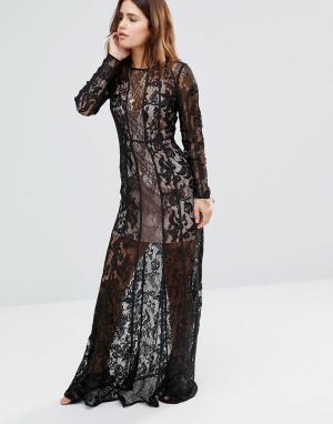 The Jetset Diaries Платье макси Yasmine. Цвет: черный