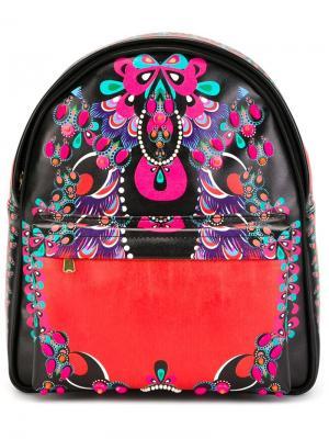 Маленький рюкзак с принтом Manish Arora. Цвет: чёрный