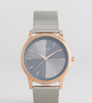 Limit Серебристые часы с сетчатым ремешком эксклюзивно для ASOS. Цвет: серебряный