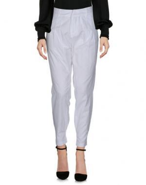 Повседневные брюки MISS SIXTY. Цвет: белый