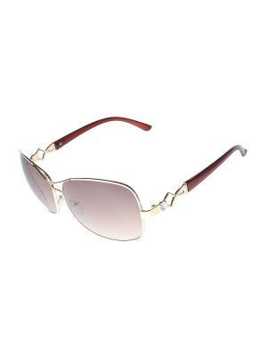 Очки солнцезащитные Migura. Цвет: золотистый, белый, коричневый