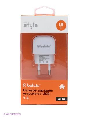 Сетевое зарядное устройство 1 USB, A, белый Belsis. Цвет: белый