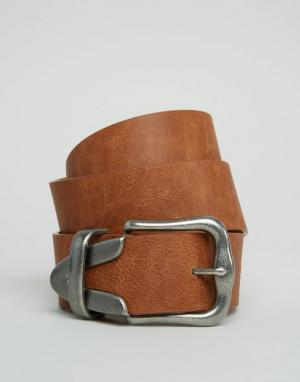 ASOS Ремень под джинсы. Цвет: коричневый