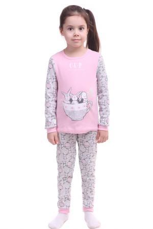 Пижама СВIТАНАК. Цвет: светло-розовый, набивка