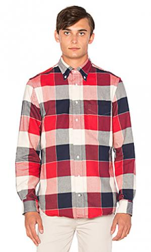 Рубашка на пуговицах Gitman Vintage. Цвет: вишня