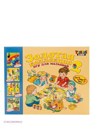Настольная игра Золотая коллекция для малышей TopGame. Цвет: желтый, голубой