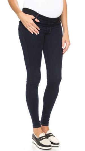 Джинсы без застежки Twiggy Under Belly для беременных James Jeans. Цвет: синий бархат