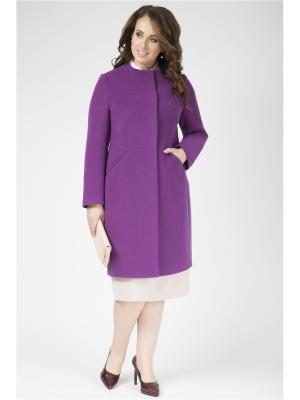 Пальто Electrastyle. Цвет: темно-фиолетовый