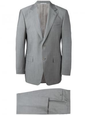 Классический костюм-двойка Canali. Цвет: серый