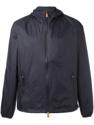Куртка на молнии с капюшоном Save The Duck. Цвет: синий
