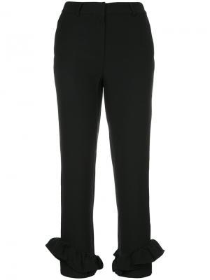 Укороченные строгие брюки Elaidi. Цвет: чёрный