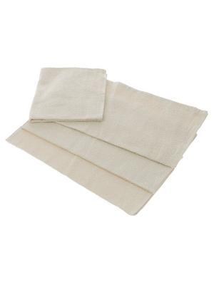 Махровое полотенце бежевый 70*140-100% хлопок, в коробке УзТ-ПМ-114-08-03к Aisha. Цвет: бежевый