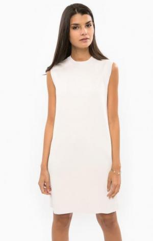 Классическое трикотажное платье DRYKORN. Цвет: молочный