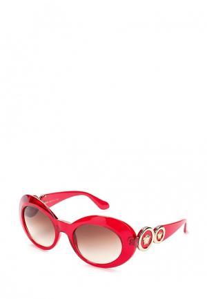 Очки солнцезащитные Versace. Цвет: красный