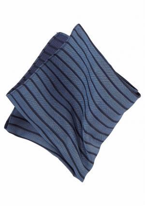 Нагрудный платок Class International. Цвет: синий в полоску