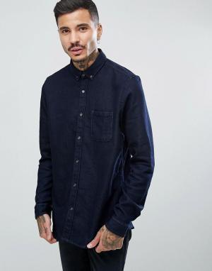 HUGO Джинсовая рубашка Emmingway. Цвет: синий