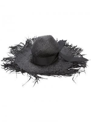 Шляпа с эффектом поношенности Gigi Burris Millinery. Цвет: чёрный