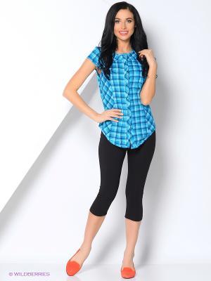 Комплект (блузка, бриджи) FORLIFE. Цвет: синий