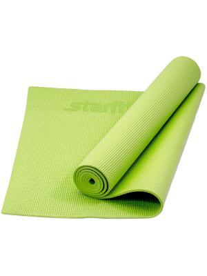 Коврик для йоги STARFIT FM-101 PVC 173x61x0,8 см, зеленый. Цвет: зеленый