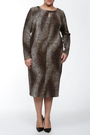 Свободное платье с вырезом Капелька Verpass. Цвет: коричневый