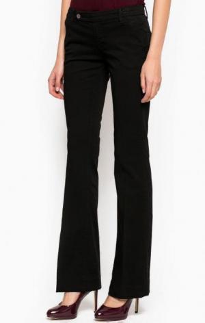 Расклешенные брюки из вискозы с добавлением нейлона Silvian Heach. Цвет: черный