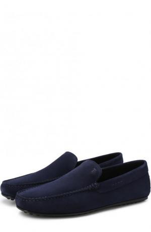 Замшевые мокасины Tod's. Цвет: синий