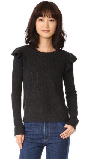 Кашемировый свитер с оборками сбоку Chinti and Parker. Цвет: золотой