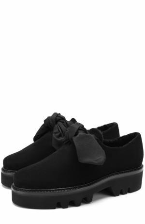 Замшевые ботинки Fabula с внутренней отделкой из овчины Walter Steiger. Цвет: черный