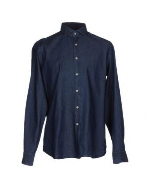 Джинсовая рубашка ALEA. Цвет: синий