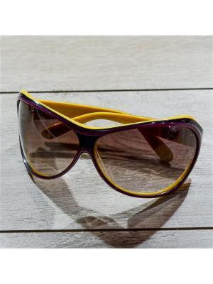 Очки MACAR. Цвет: бордовый, желтый