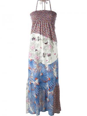 Лоскутное платье Tsumori Chisato. Цвет: многоцветный