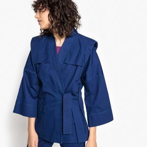Халат-кимоно La Redoute Collections. Цвет: синий,хаки