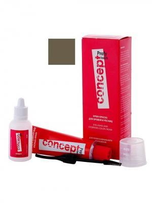 Крем-краска для бровей и ресниц PROFY TOUCH Графит; 30/20 мл (п) Concept. Цвет: темно-серый, черный