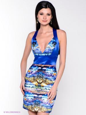 Платье MARY MEA. Цвет: синий