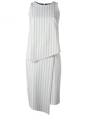Платье Dee в тонкую полоску Minimarket. Цвет: серый