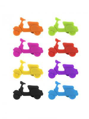 Маркеры для бокалов Scooter 8шт. Balvi. Цвет: голубой, желтый, зеленый, красный, оранжевый, розовый, фиолетовый, черный